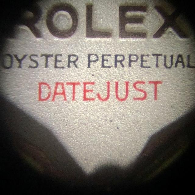 Rolex Red Datejust ref. 6305 Acc/Oro Rosa